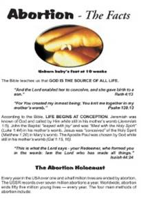Abortion the facts tract cover