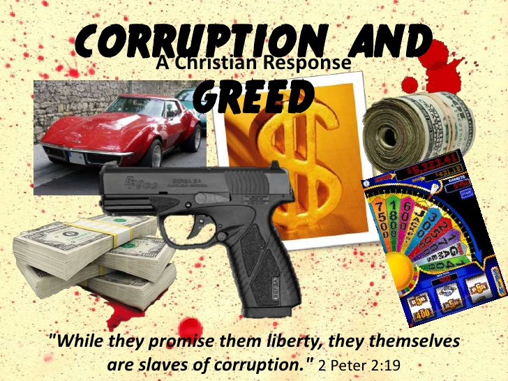 Corruption and Greed - A Christian Response