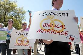 I support Biblical marriage