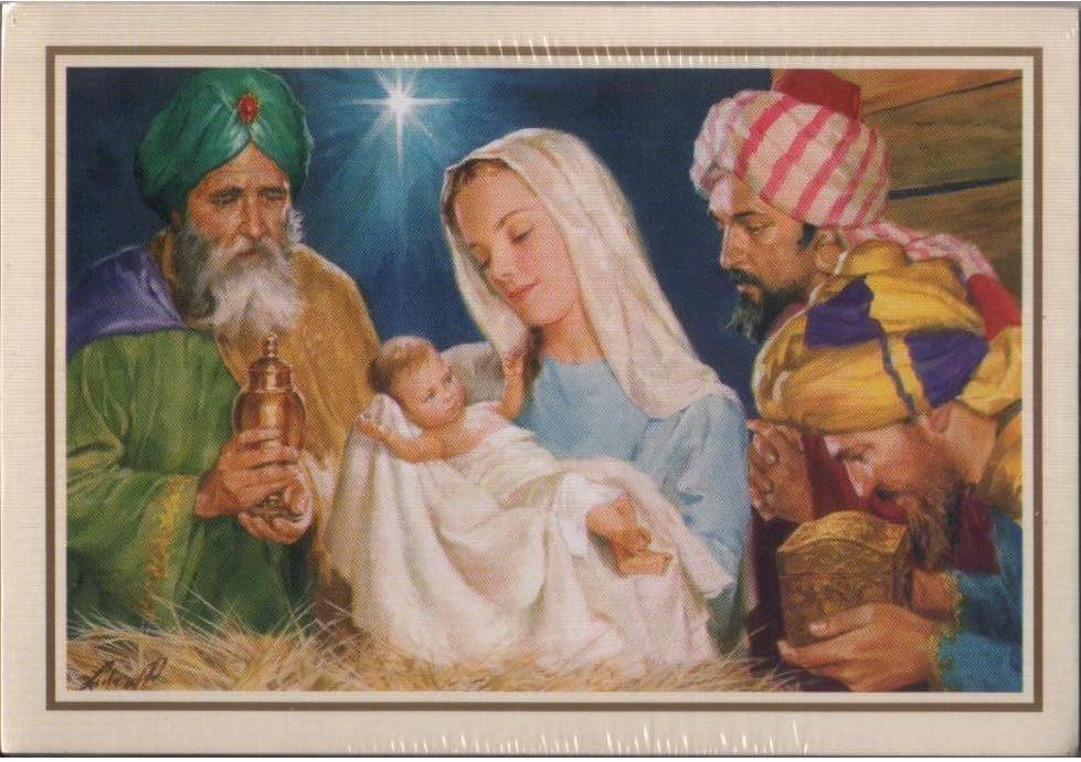 Mary and Wisemen Christmas card