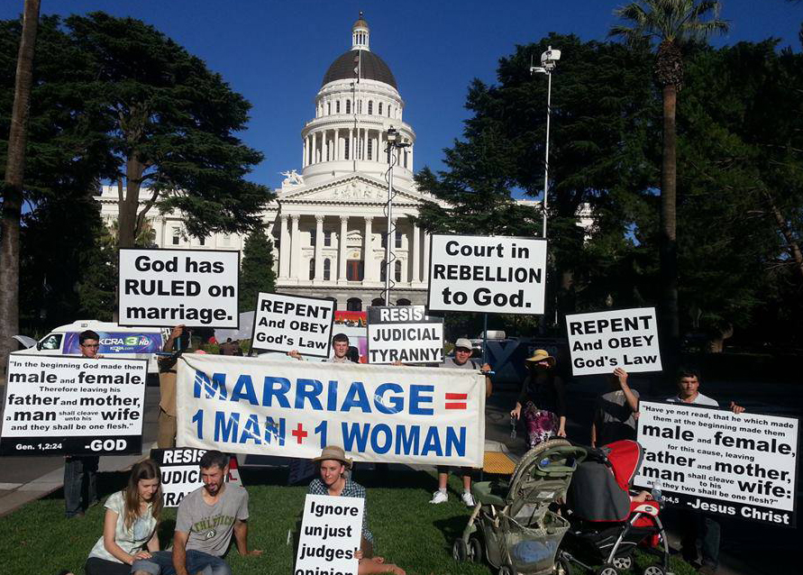 America protest marriage