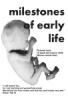 Leaflet: Milestones of Early Life